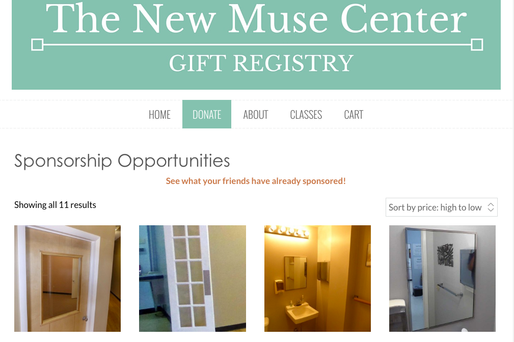 The Muse Writers Center Gift Registry